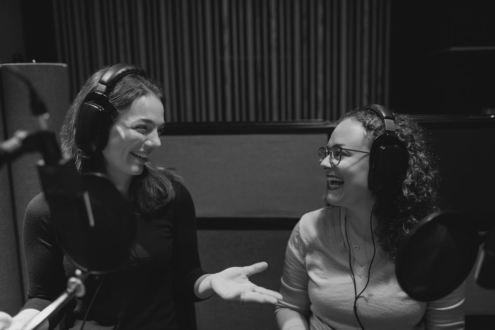 The  Should We  crew (me and  Lisa ) at Women's Audio Mission. Photo by  Melanie Riccardi .
