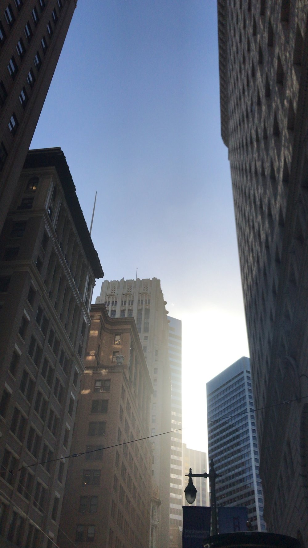 Downtown San Francisco in the morning