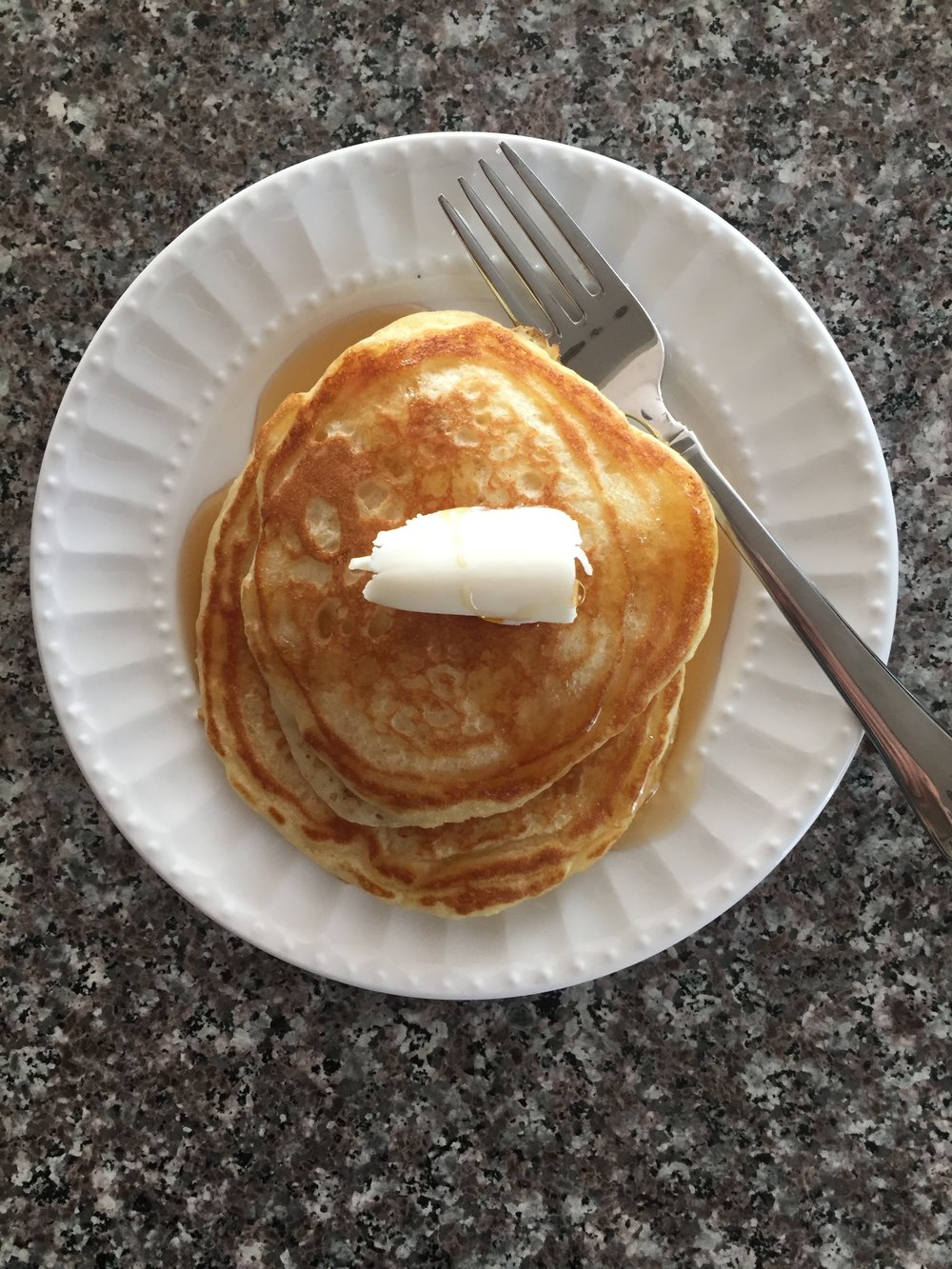 buttermilk pancakes with butter