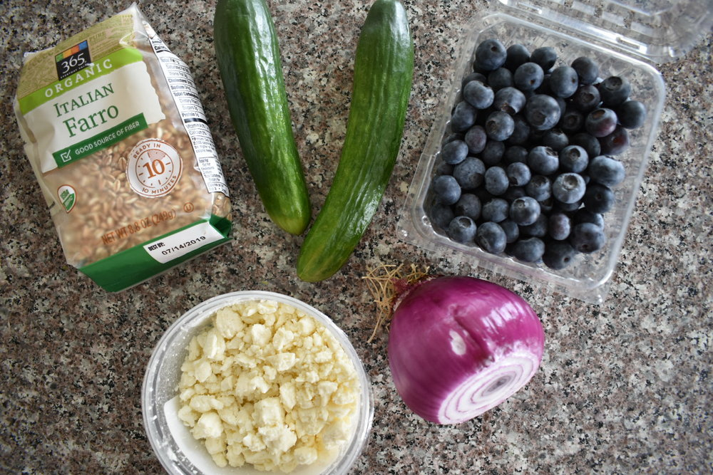 blueberry farro salad ingredients