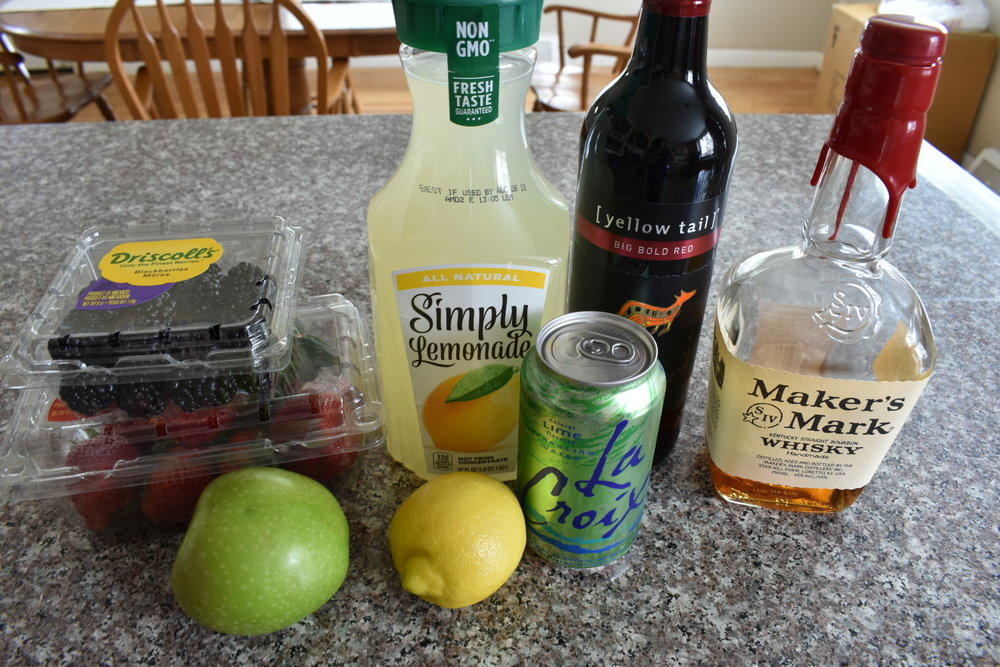 ingredients for sangria