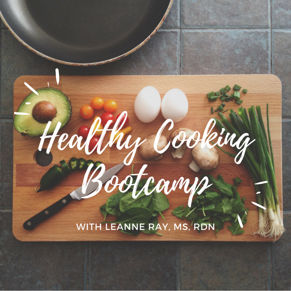 healthy cooking bootcamp with Denver registered dietitian Leanne Ray, MS, RDN