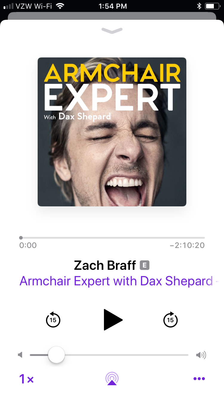 armchair expert podcast with Dax Shephard