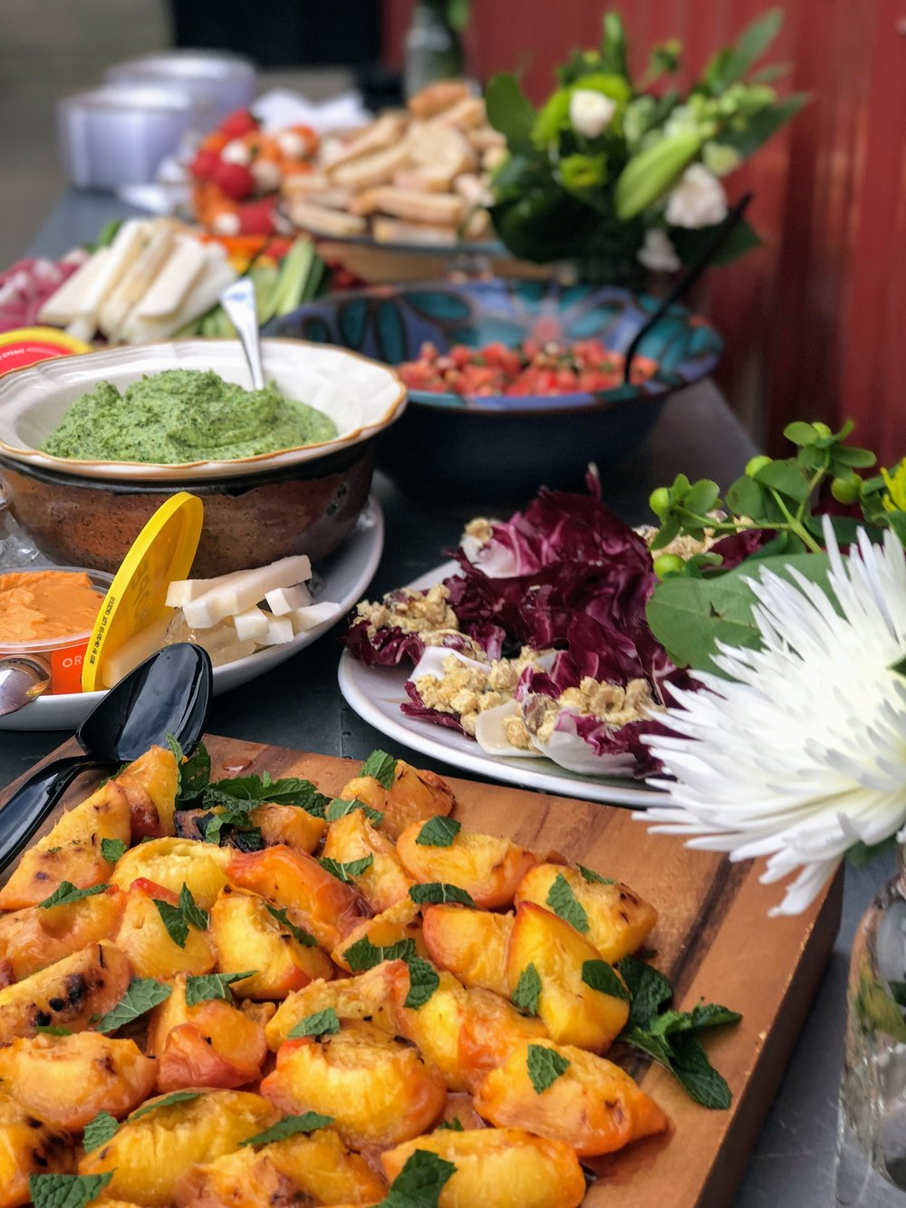 food spread at summer entertaining made simple event