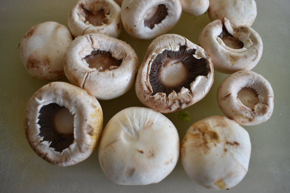 button mushrooms without stems