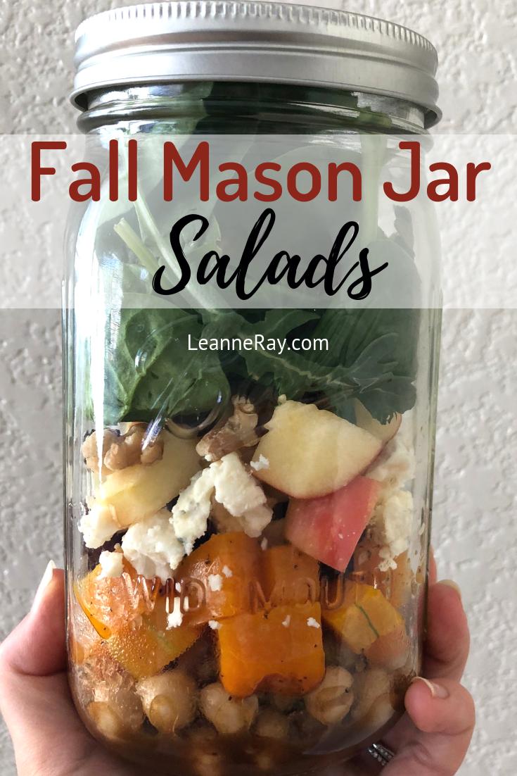 Fall mason jar salads