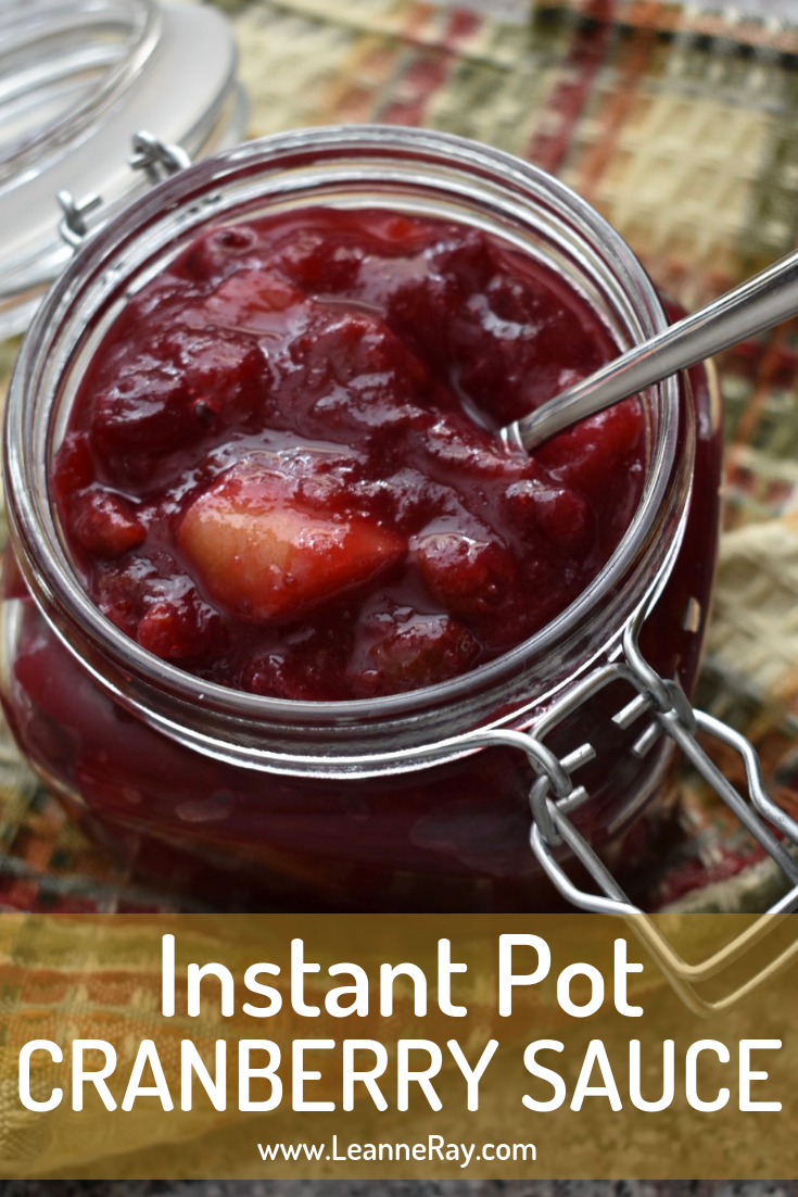 Instant Pot Cranberry Pear Sauce for Thanksgiving