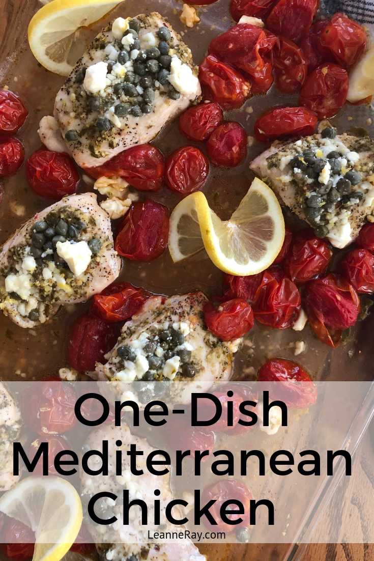 One-Dish Mediterranean Chicken (simple and healthy!)