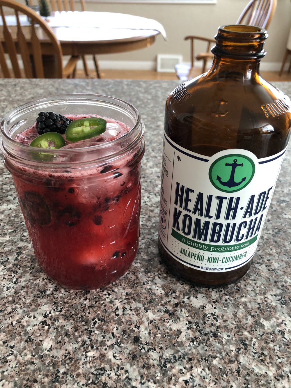 spicy kombucha margaritas