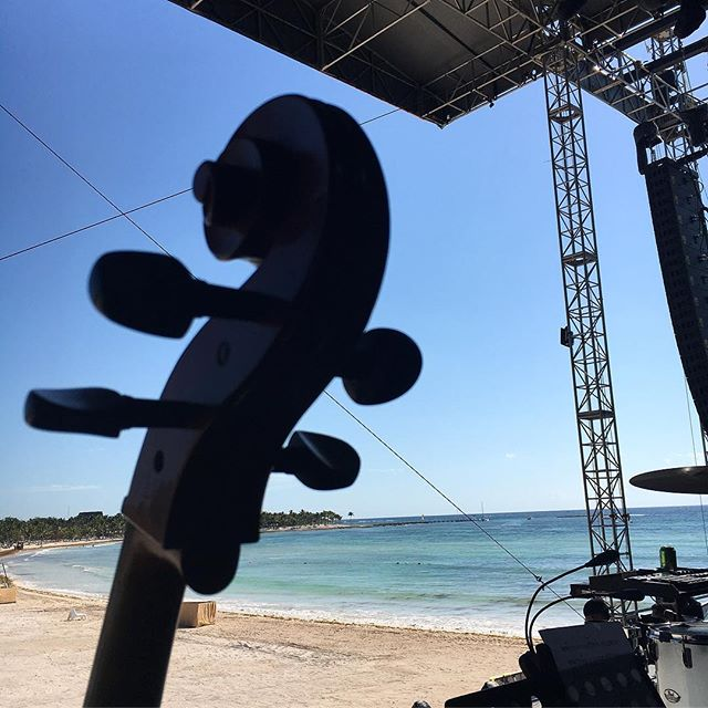 #soundcheck for tonight's show with @odesza at #sundara and some other highlights. #cellist #livemusic #pro #musicfestival #caribbean