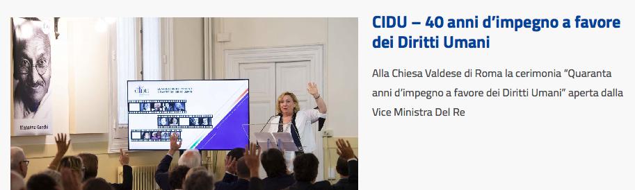 L'On. Emanuela Del Re interviene nella prima sessione del Convegno