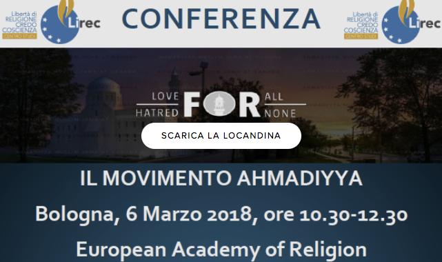 La Comunità Ahmadiyya (04/03/2018)