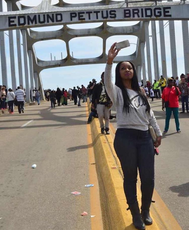 Covering the 50th Anniversary of crossing the Edmund Pettis bridge in Selma, AL.