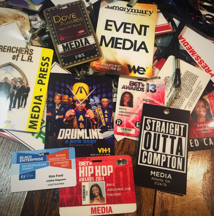 Years of press credentials!