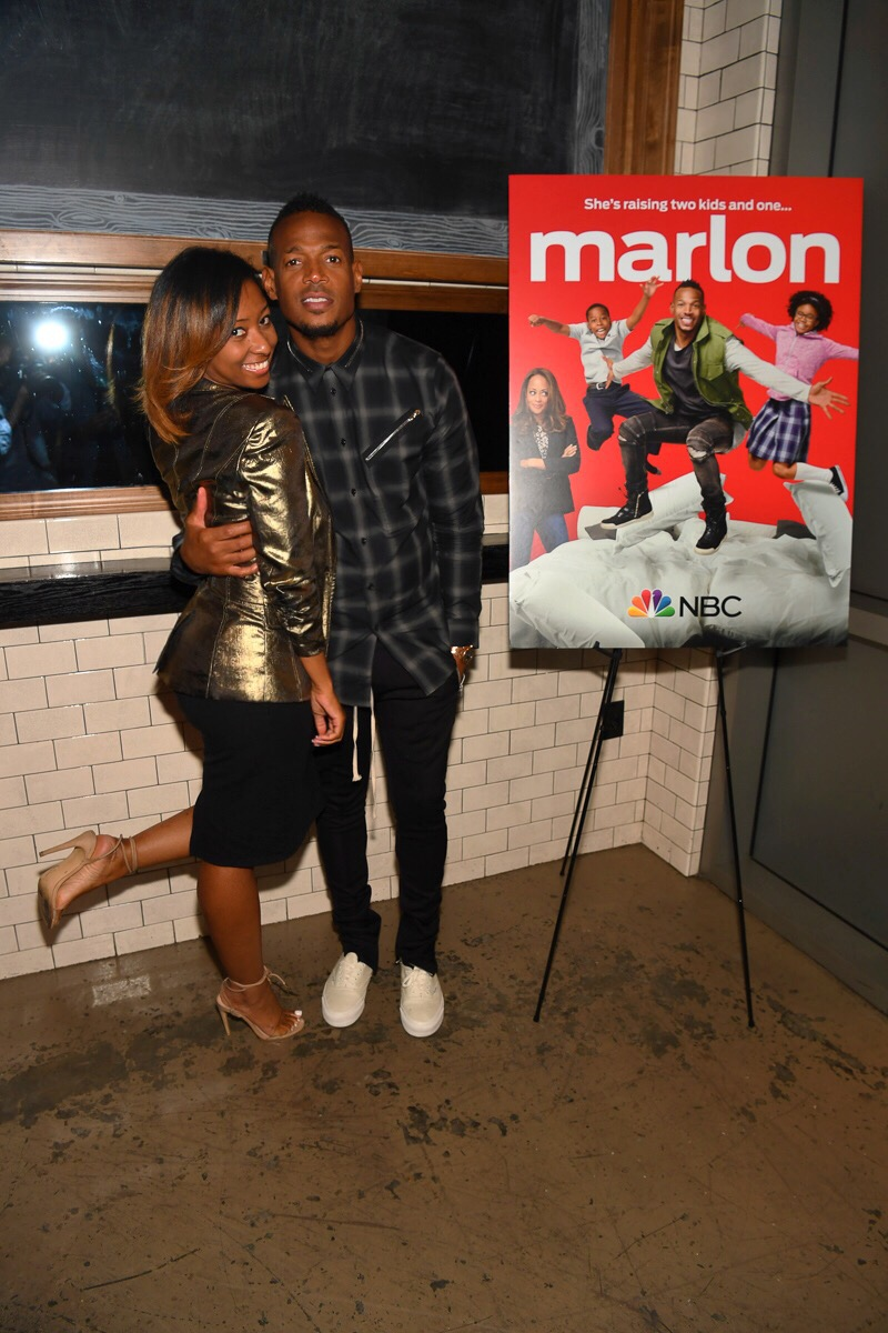 NBC private press dinner hosted by Marlon Wayans.