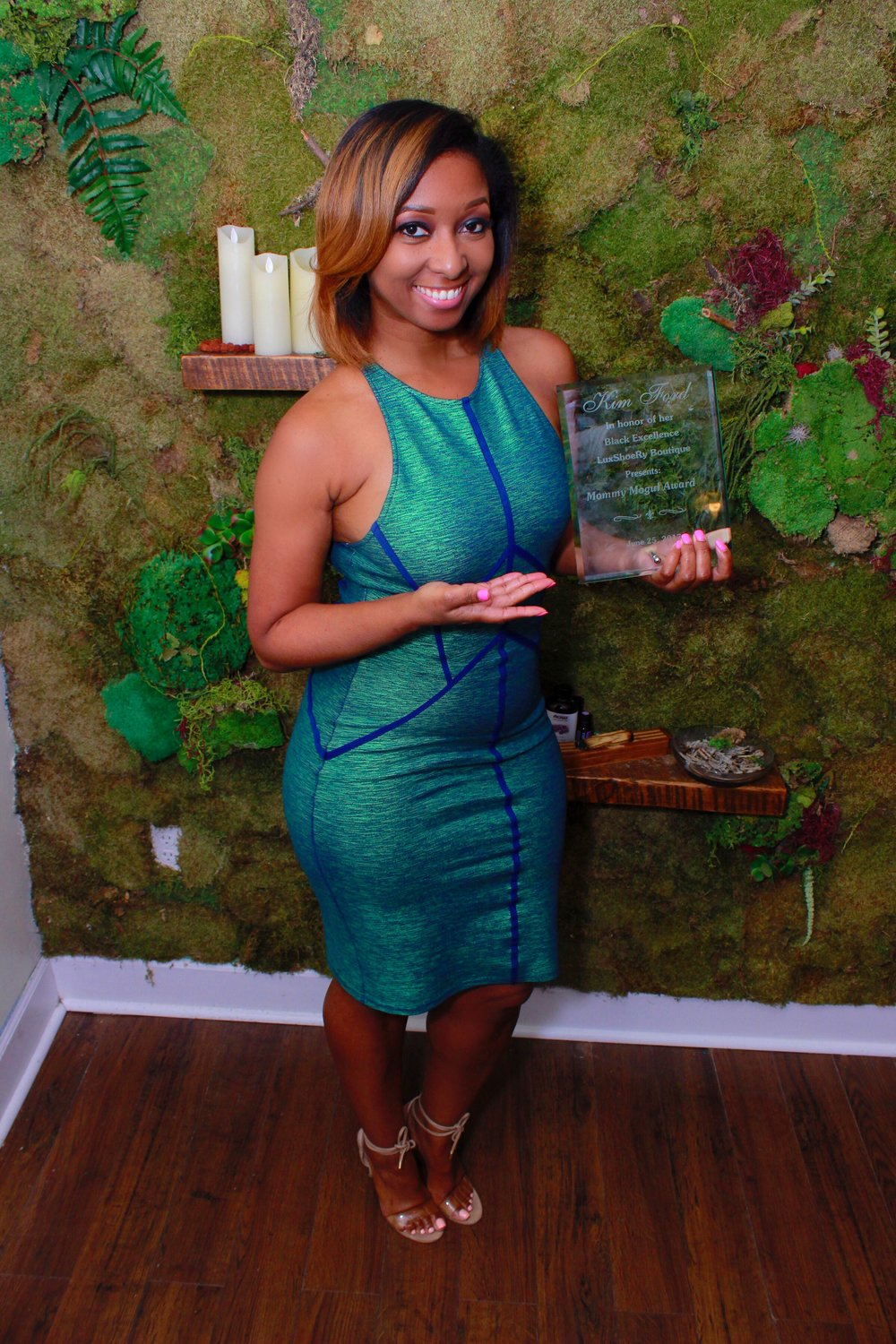 Honored with the Mommy Mogul Award.