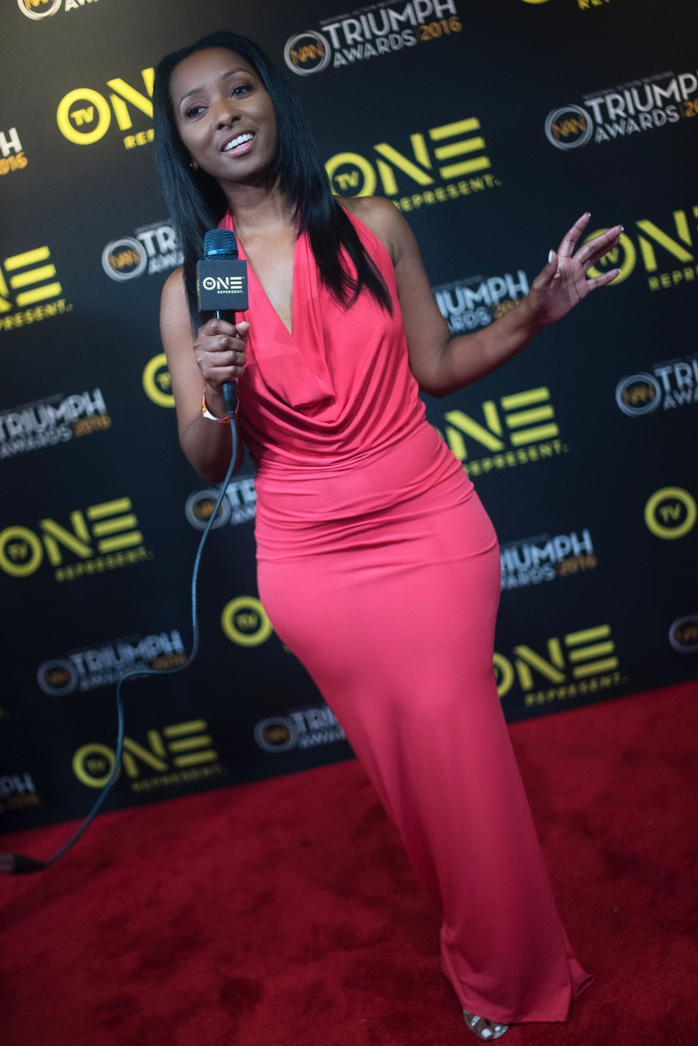 TVOne Triumph Awards red carpet.