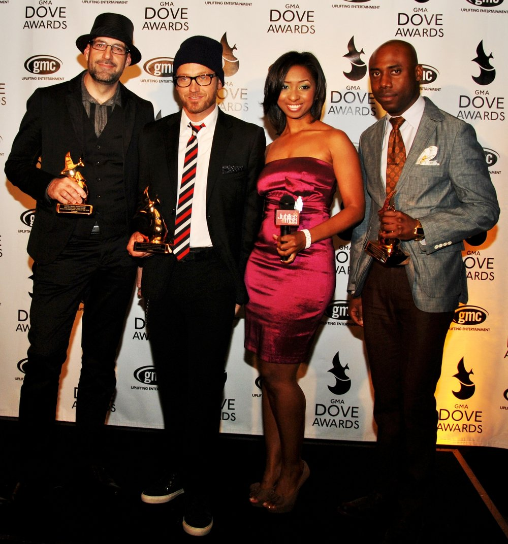 With Toby Mac at the Dove Awards.