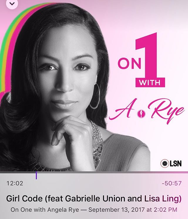 Dope episode of @angelarye podcast with @gabunion and @lisalingstagram. It's an inspiring, transparent discussion about their journey, insecurities, saving instead of ballin, negations and so much other grown woman stuff. All my BFF's in my head. Download and listen. #GirlCode #AngelaLarye #LisaLing #GabrielleUnion #SmartGirlsRock #OnOneWithAngelaLarye