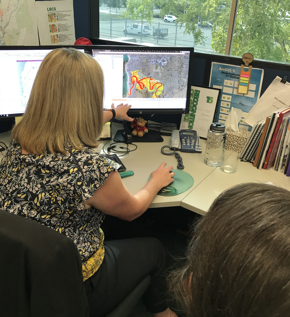 Laura Wills gaining access to City of Onkaparinga's mapping and GIS expertise
