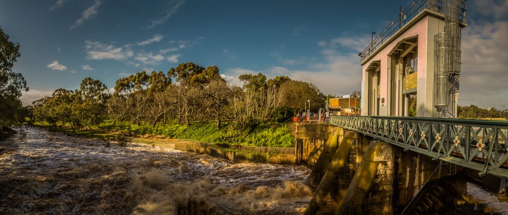 Torrens Weir Overflow, by John