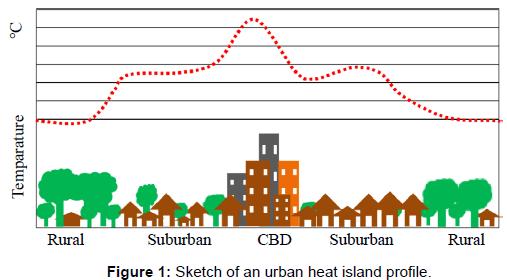 Urban Heat Island Effect (source: 2017 Bhargava A, et al)