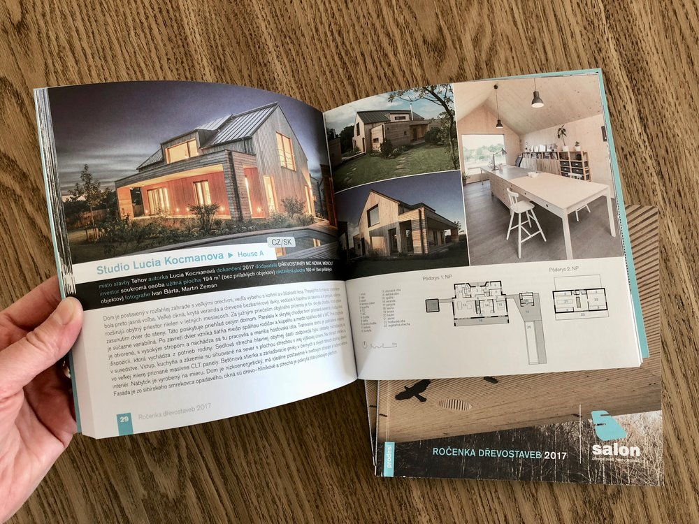 Timber Construction Buildings Yearbook 2017 - House A was published and exhibited on Salon of Timber Construction Buildings / Prague 2018
