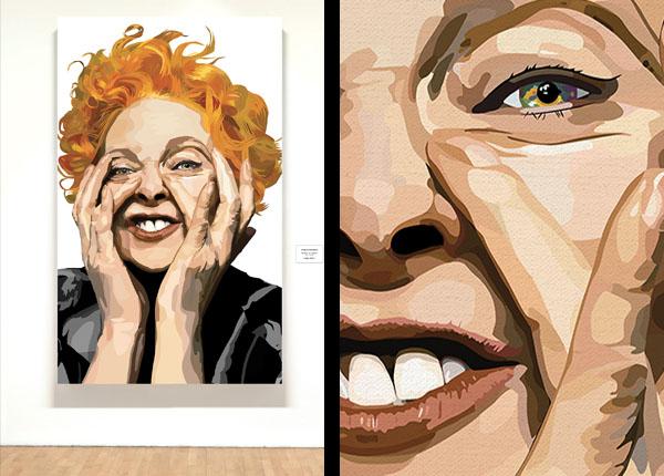 Vivienne Westwood - Artwork by:  Biagio Black