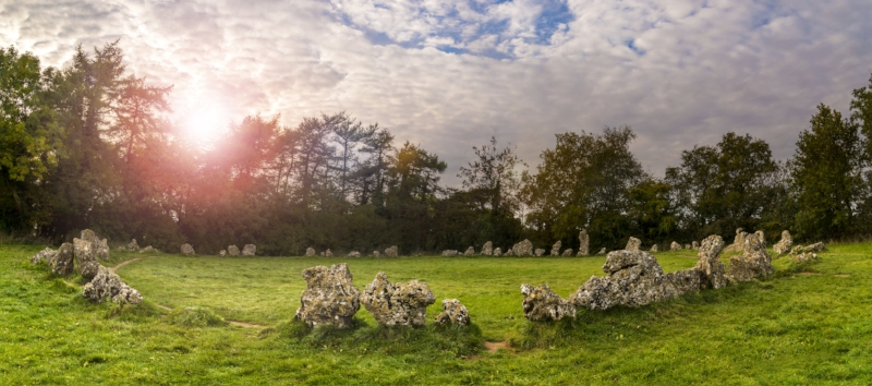 Sunrise at The Rollright Stones