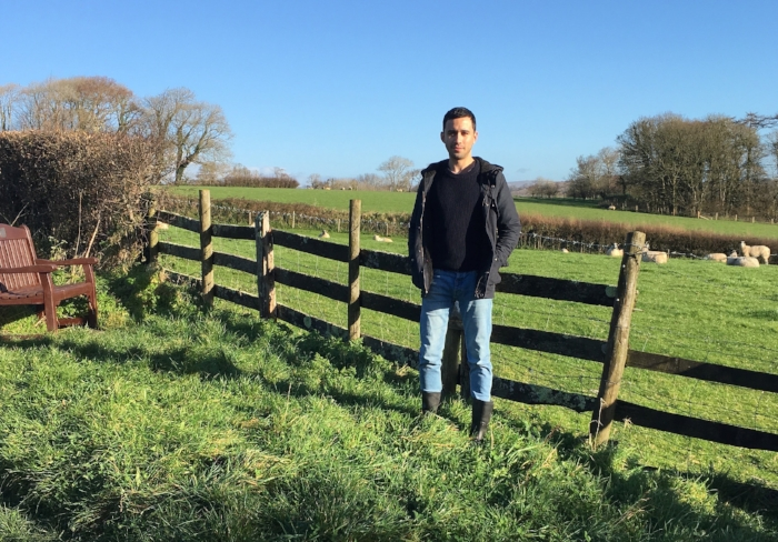 Vinicius on the farm