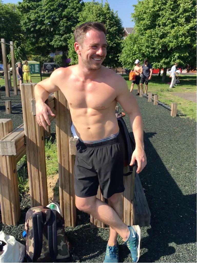 Glenn Mainwaring, after an outdoor workout