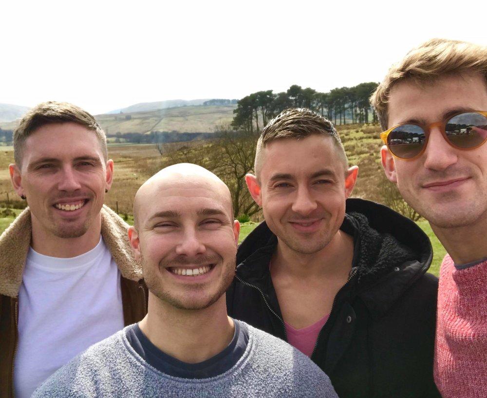 Q&C // (Left to right) Shane Bandeen, Joe Zarins-Tutt, Joe Duff, Giles Heath, The Lake District