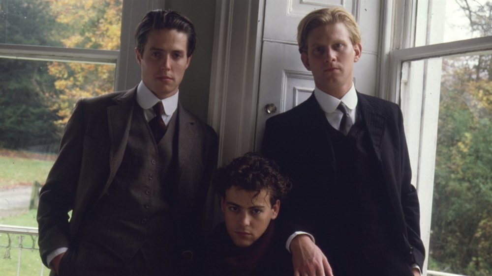 Hugh Grant, Rupert Graves and James Wilby in the 1987 film Maurice, based on the novel by EM Forster