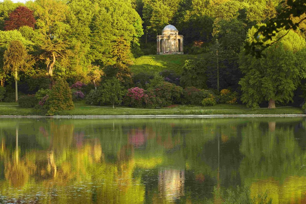 Display of rhododendron alongside the Temple of Apollo at Stourhead  (c)  National Trust Images-Clive Nichols.jpg