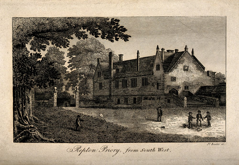 Repton Priory, from South West