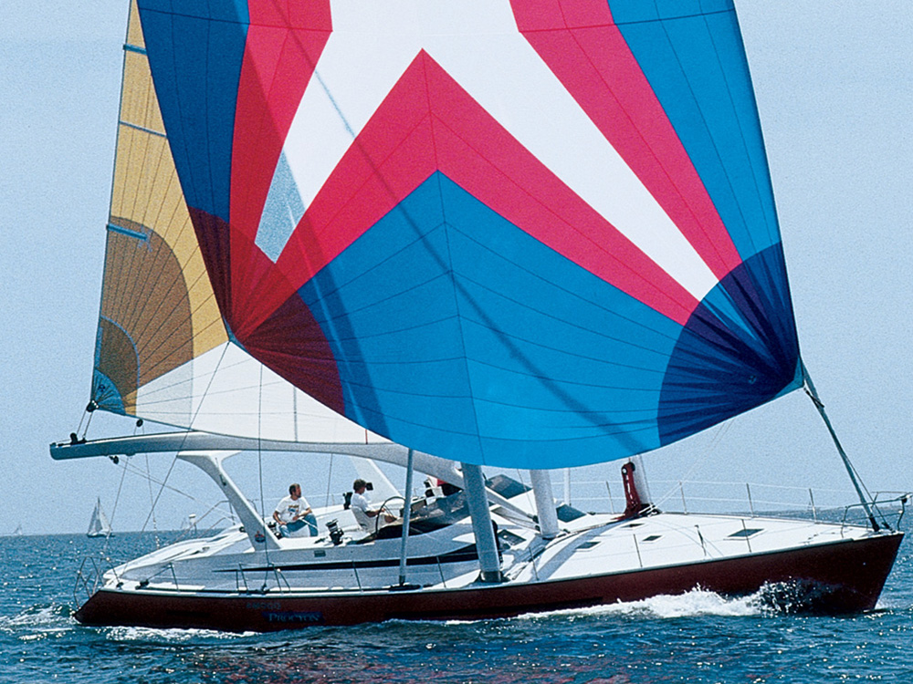 Amoco Procyon , an innovative new approach to design, re-imagined all aspects of a traditional sailboat, including the first-ever uses of a canting keel.