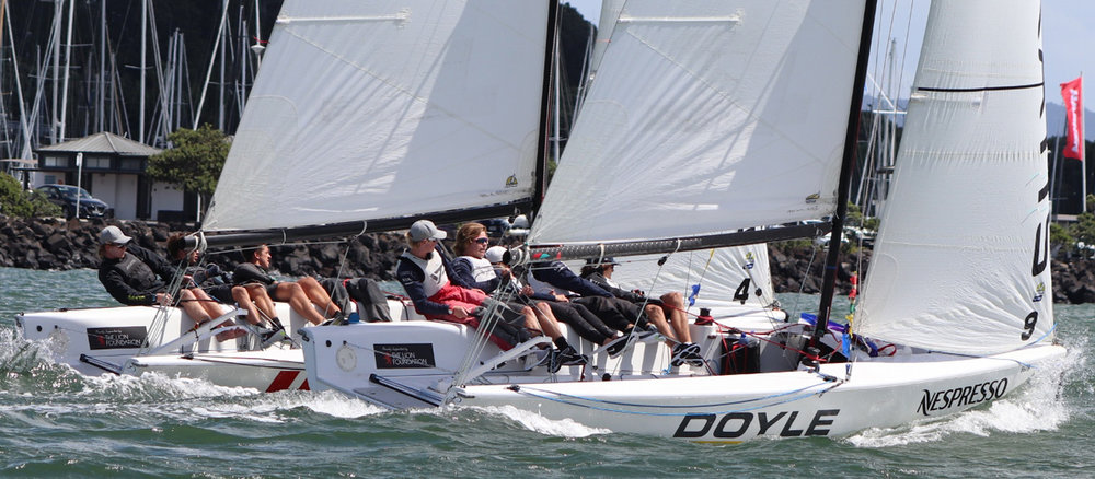 RNZYS NESPRESSO YOUTH INTL. MATCH RACING CUP SUPPORTED BY HARKEN - Waitemata Harbour played host to fast and furious racing last week for the 2019 RNZYS Nespresso Youth International Match Racing Cup supported by Harken.