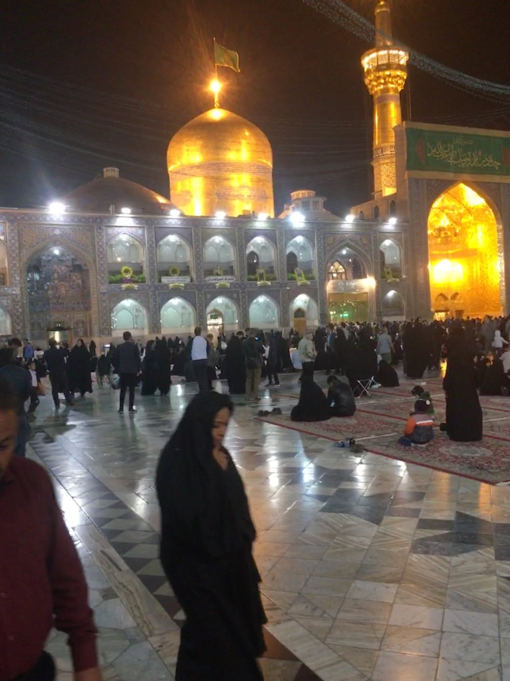 Imam Reza shrine courtyard