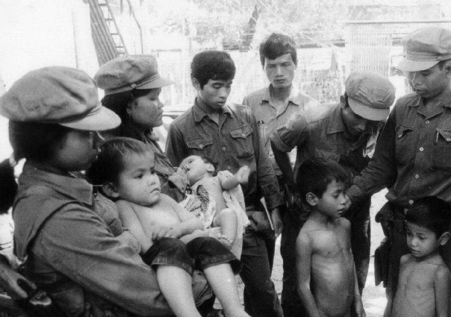 Young Survivors of the Pol Pot genocide