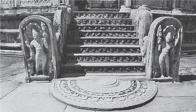 The Vatadage moonstone in Polonnaruwa