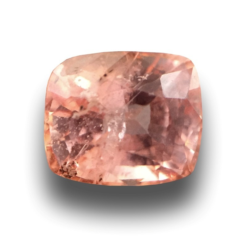 Padparadschas are coloured by the presence of both iron (the element which gives blue sapphires their colour) and chromium (the element which gives rubies their colour)