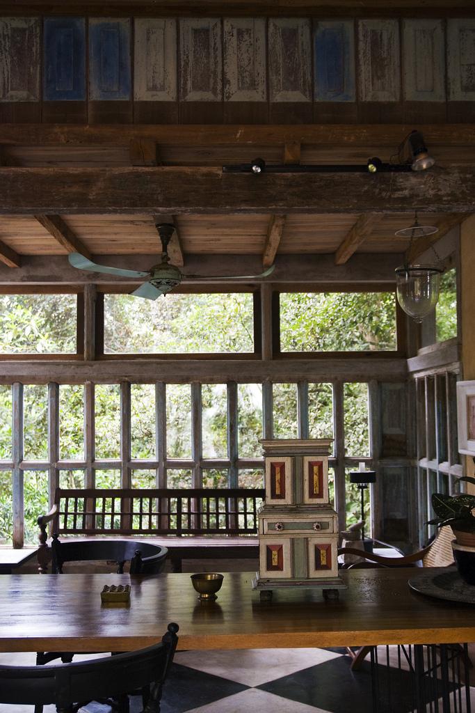 Interior of Bawa's Lunuganga residence, Bentota