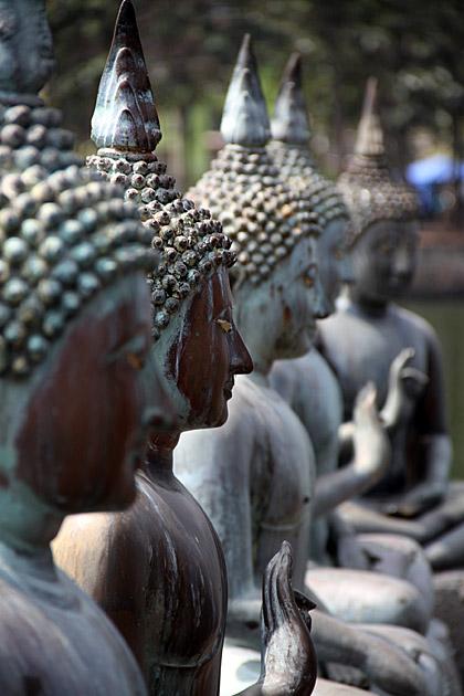 Seema Malaka, Colombo - detail of Buddha statues