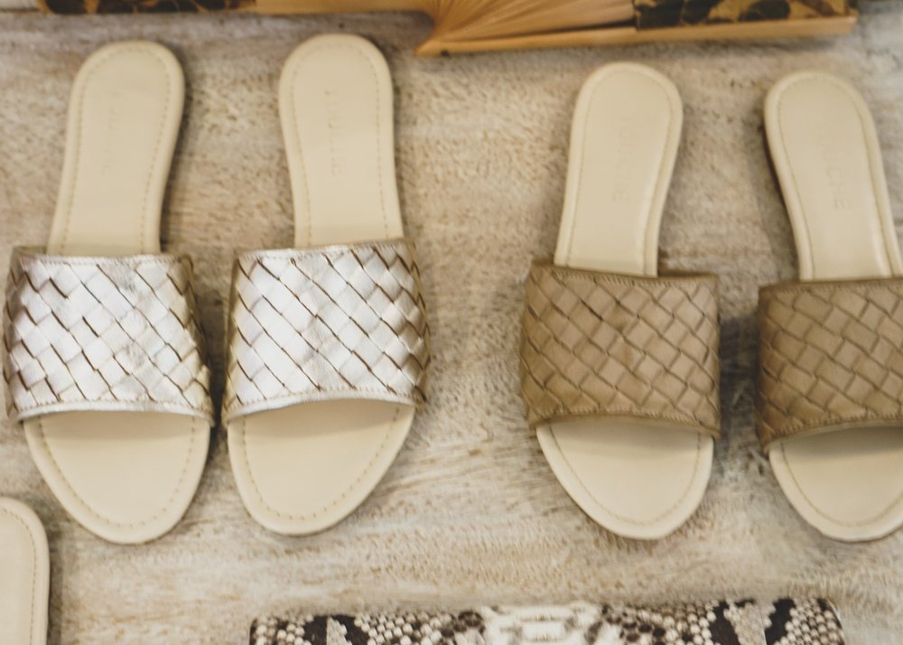 Sri Lankan fashion: leather mules available at L'Atelier Touche in the Colombo 3 South shopping district