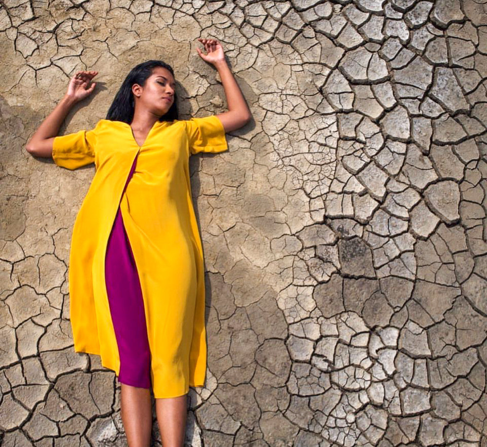 Sri Lankan fashion - The Indi origami midi by ANUK available at PR Sri Lanka in the Viharamahadevi Park East shopping district. Photo credit: ANUK