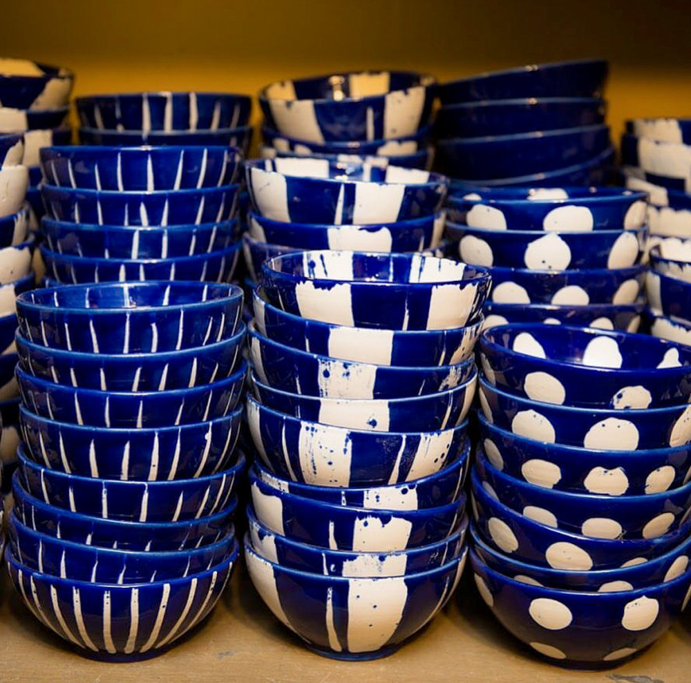Sri Lankan homewares - signature ceramics available at Paradise Road in the Viharamahadevi Park North shopping district. Photo credit: Paradise Road