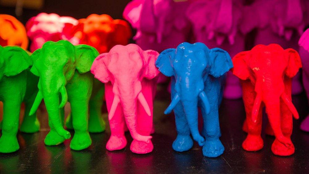 Paradise Road - decorative elephants