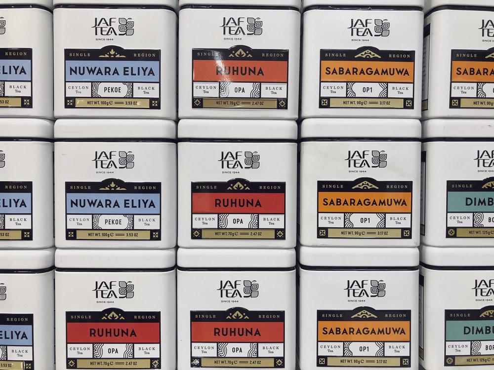 Specialty regional tea at Odel