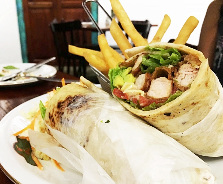 Cricket Club Cafe wrap. Photo credit: Pulse