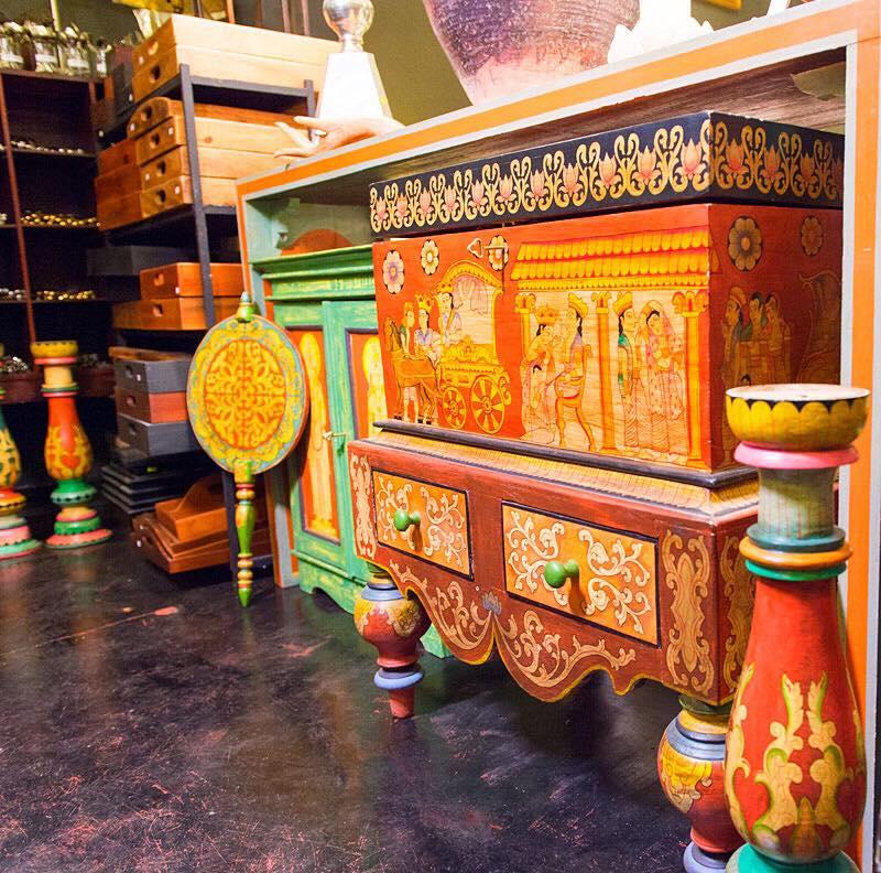 Painted chest at Suriya